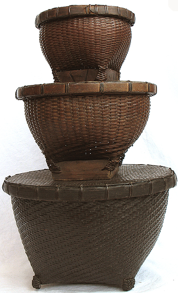 3 nesting sasak rice basket