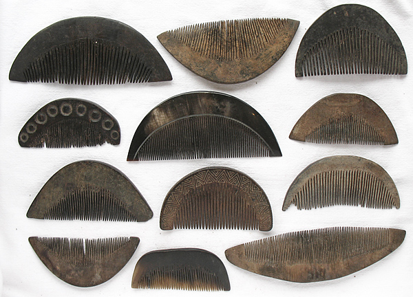 a selection of timor combs
