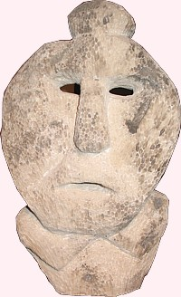 fossilized coral mask